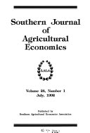 Southern Journal of Agricultural Economics Book