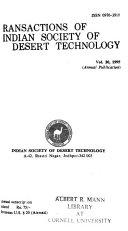 Transactions of Indian Society of Desert Technology and University Centre of Desert Studies