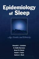 Epidemiology of Sleep