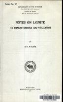 Notes on Lignite
