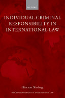 Pdf Individual Criminal Responsibility in International Law