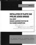 Installation of Plastic Gas Pipeline Across Bridges