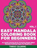 Easy Mandala Coloring Book For Beginners