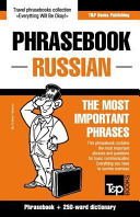 English Russian Phrasebook and 250 Word Mini Dictionary