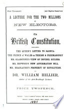 The British constitution (a lecture).