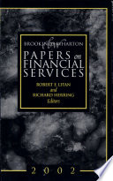 Brookings Wharton Papers on Financial Services  2002 Book