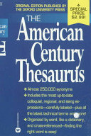 The American Century Thesaurus