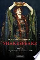 Cover of The New Cambridge Companion to Shakespeare
