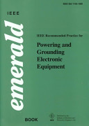 IEEE Recommended Practice for Powering and Grounding Electronic Equipment