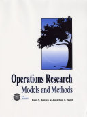 Cover of Operations Research Models and Methods