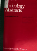 Toxicology Abstracts Book