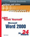 Sams Teach Yourself Microsoft Word 2000 in 24 Hours