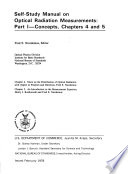 Self-study manual on optical radiation measurements