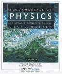Fundamentals of Physics 9E Volume 2 Chapters 18-37 for So Methodist Univ