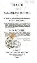 Traité des maladies des artisans, et de celles qui résultent des diverses professions, d'après Ramazzini