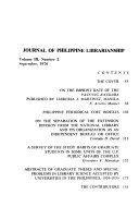 Journal Of Philippine Librarianship