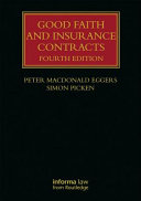 Pdf Good Faith and Insurance Contracts