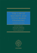 The Law of Security and Title Based Financing