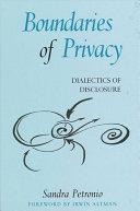 Boundaries of Privacy