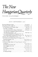 The New Hungarian Quarterly