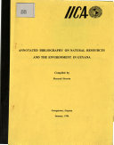 Annotated Bibliography on Natural Resources and the Environment in Guyana