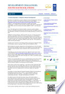 Development Challenges, South-South Solutions: April 2013 Issue  : E-newsletter of the United Nations Office for South-South Cooperation