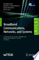 Broadband Communications  Networks  and Systems Book PDF