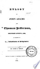 Eulogy on John Adams and Thomas Jefferson Book PDF