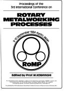 Proceedings of the 3rd International Conference on Rotary Metalworking Processes, 8-10 September 1984, Kyoto, Japan