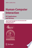 Human Computer Interaction Hci Applications And Services