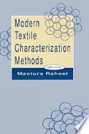 Modern Textile Characterization Methods Book PDF