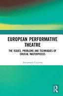 Pdf European Performative Theatre Telecharger