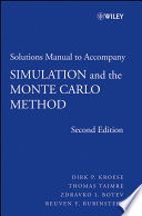 Student Solutions Manual To Accompany Simulation And The Monte Carlo Method Student Solutions Manual