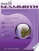 Math Mammoth Grade 4 Answer Keys
