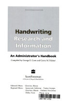 Handwriting Research and Information Book