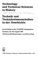Technik Und Technikwissenschaften In Der Geschichte
