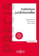 Pdf Institutions juridictionnelles - 15e éd. Telecharger