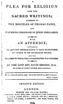 A plea for religion ... With an appendix; containing the author's determination to have relinquished his charge in the Established Church, and the reasons on which that determination was founded ... Seventh edition