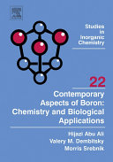 Contemporary Aspects of Boron: Chemistry and Biological Applications