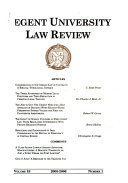 Regent University law review