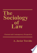 The Sociology of Law Book
