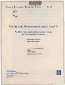 Credit Risk Measurement Under Basel II Book