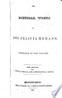The Poetical Works Of Mrs Felicia Hemans