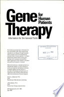 Gene Therapy for Human Patients