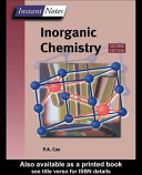 BIOS Instant Notes in Inorganic Chemistry