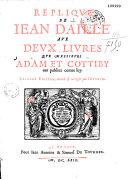 Réplique de Jean Daillé aux deux livres que Messieurs Adam et Cottiby ont publiez contre luy ebook