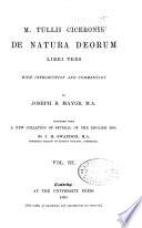 De Natura Deorum Libri Tres