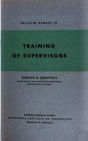 Training of Supervisors