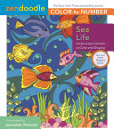 Zendoodle Color by Number  Sea Life