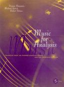 Music For Analysis Book PDF